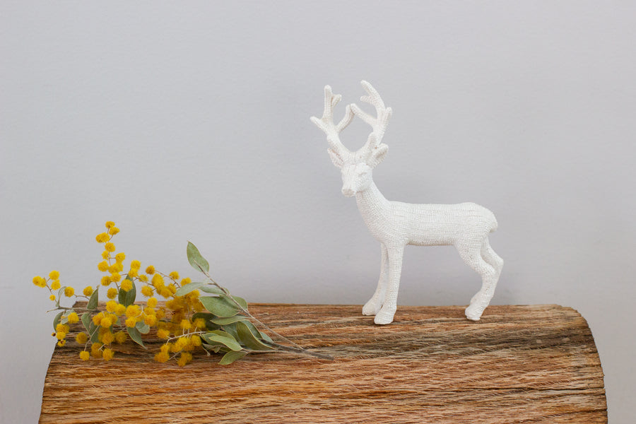 Standing  White Reindeer - Small