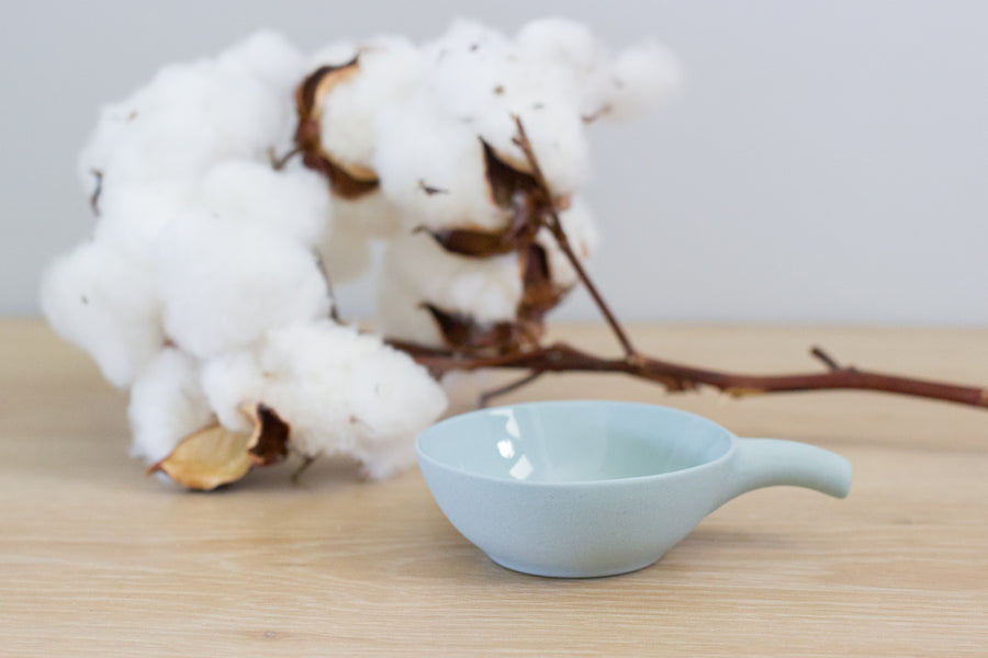 Flax Small Bowl with Handle - Duck Egg