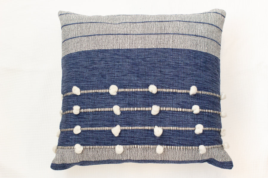 Speranza Cushion - Natural/Blue