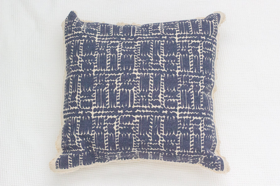Royston Cushion - Blue/Natural