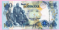 banknote of Botswana 100 Pula in UNC condition