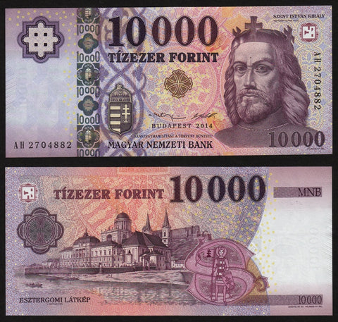 banknote of Hungary 10000 Forint in UNC condition