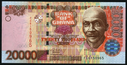 banknote of Ghana 20000 Cedis in UNC condition