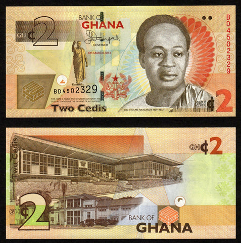 banknote of Ghana 2 Cedis in UNC condition