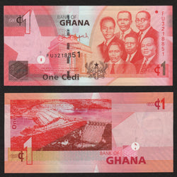 banknote of Ghana 1 Cedis in UNC condition