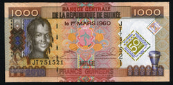 banknote of Guinea  1000 Francs in UNC condition