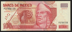 banknote of Mexico 100 Pesos in UNC condition