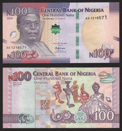 banknote of Nigeria 100 Naira in UNC condition