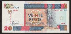 banknote of Cuba 20 Pesos Convertibles in EF condition