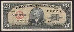 banknote of Cuba 20 Pesos in EF condition