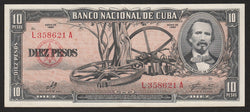 banknote of Cuba 10 Pesos in EF condition