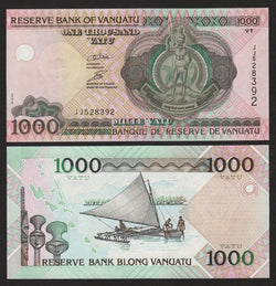 banknote of Vanuatu 1000 Vatu in UNC condition