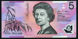 banknote of Australia 5 Dollars in UNC condition