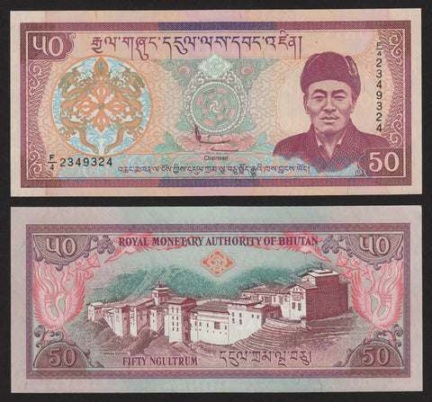 Bhutan 50 Ngultrum ND2000  F/4, P24 / B213a   UNC
