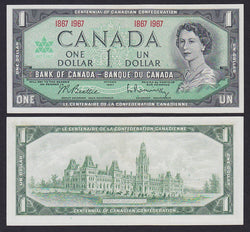 """banknote of  Canada 1 Dollar  in UNC condition"""