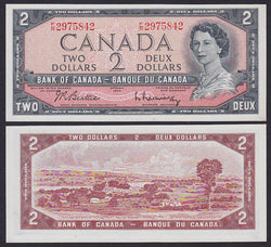 """banknote of  Canada 2 Dollars  in UNC condition"""
