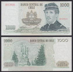 banknote of Chile 1000 Pesos in EF condition