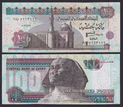 """banknote of  Egypt 100 Pounds  in UNC condition"""