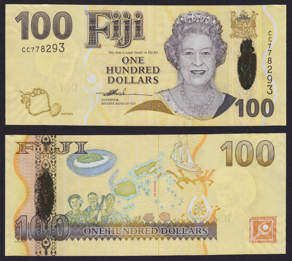 Fiji 100 Dollars ND2007 , P114 / B525A
