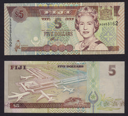 Fiji 5 Dollars ND2002 , P105b / B516a