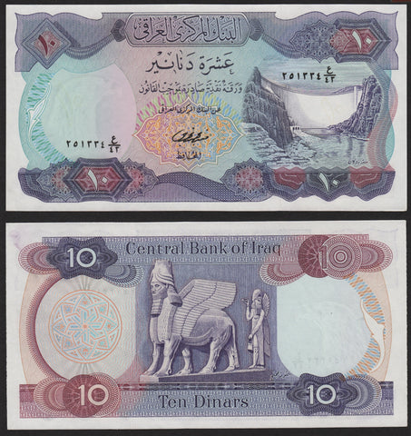 banknote of Iraq 10 Dinars in UNC condition