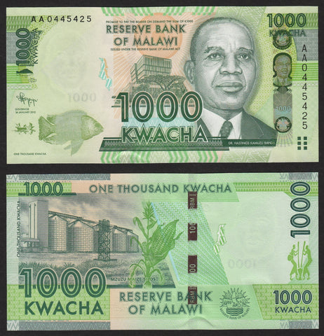 banknote of Malawi  1000 Kwacha in UNC condition
