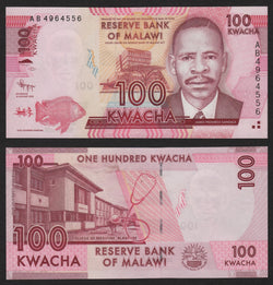 banknote of Malawi  100 Kwacha in UNC condition