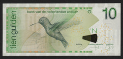 banknote of Netherlands Antilles  10 Gulden in UNC condition