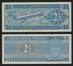 banknote of Netherlands Antilles  2,5 Gulden in UNC condition