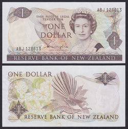 """banknote of  New Zealand 1 Dollar  in EF condition"""