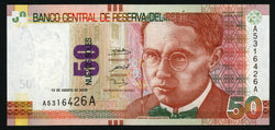 banknote of Peru 50 Nuevos soles in UNC condition