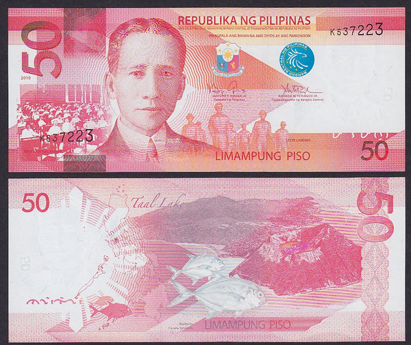 """banknote of  Philippines 50 Piso  in UNC condition"""