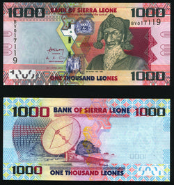 banknote of Sierra Leone 1000 Leones in UNC condition
