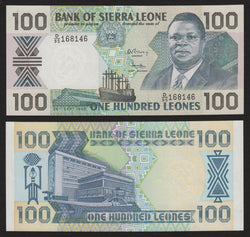 banknote of Sierra Leone 100 Leones in UNC condition