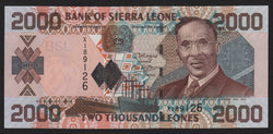 banknote of Sierra Leone 2000 Leones in UNC condition