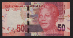 banknote of South Africa 50 Rand in UNC condition