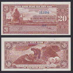 South Vietnam 20 Dong ND1962 , P6a /