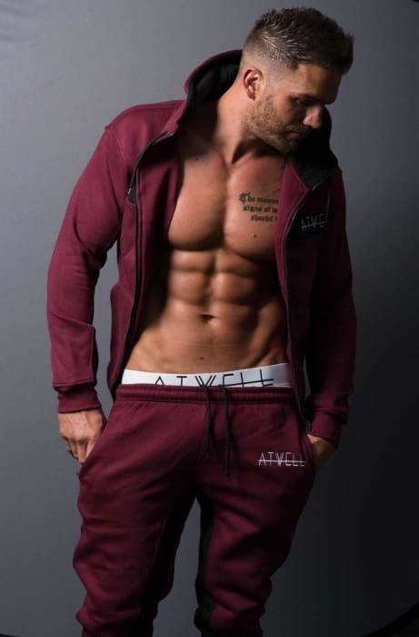 ATWELL ELITE FULL TRACKSUIT BURGUNDY