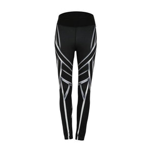 Digital Yoga Pants - Black / S
