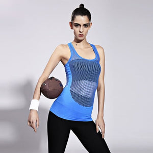 Mesh Front Breathable Running Shirt