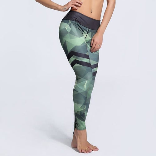 Militia Green Stripe Leggings