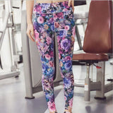 Paint Yoga Pants Spandex Leggings - Purple / S