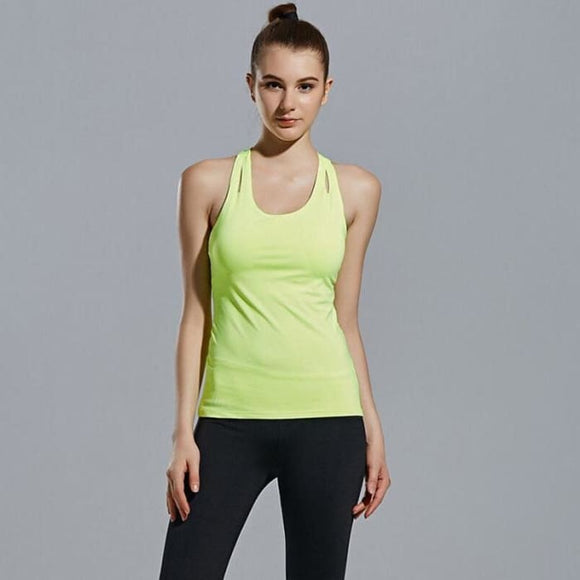 Slim Ribbed Racerback Sleeveless Yoga Vest
