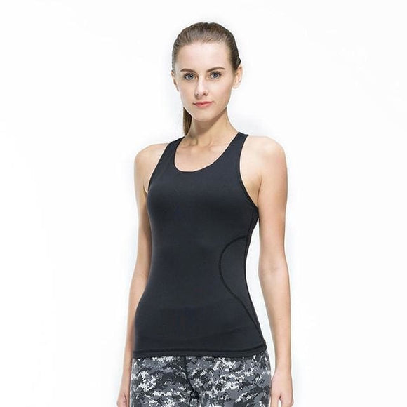 Tight Yoga Sports Vest - Black / L