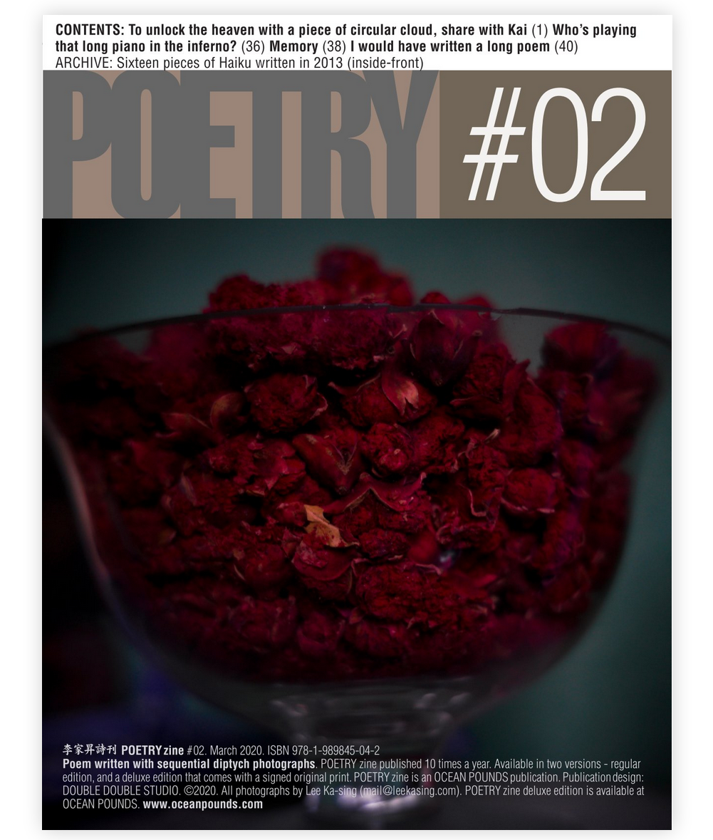 POETRY zine #02 deluxe edition with an original print