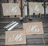 Mr. & Mrs. Chair Banner Set