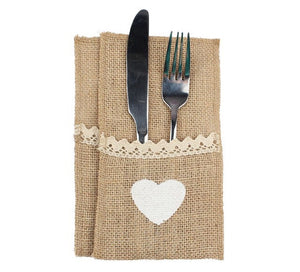 Rustic Wedding Cutlery Holder