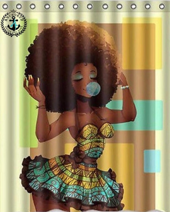 Afro Queen Shower Curtain