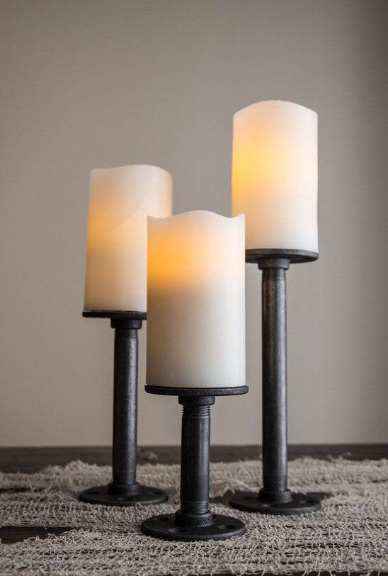 Industrial Candle Holders