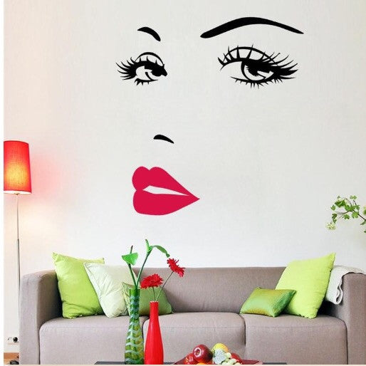 Pretty Face Vinyl Wall Decor